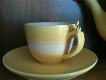 Bumble bee cup and saucer