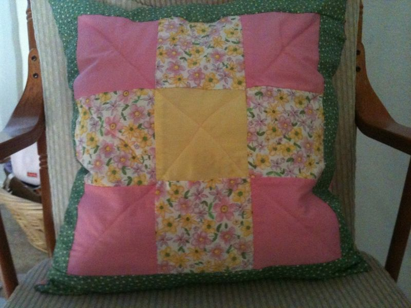 Bailey's Pillows - Pink, Yellow, Green & WHite